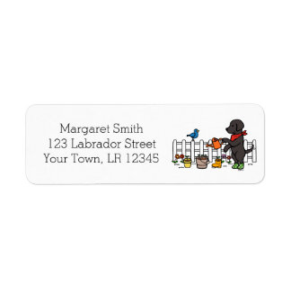 Etiquetas de endereço pretas do jardineiro de
