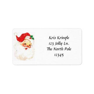 Etiquetas de endereço principais do papai noel do etiqueta de endereço