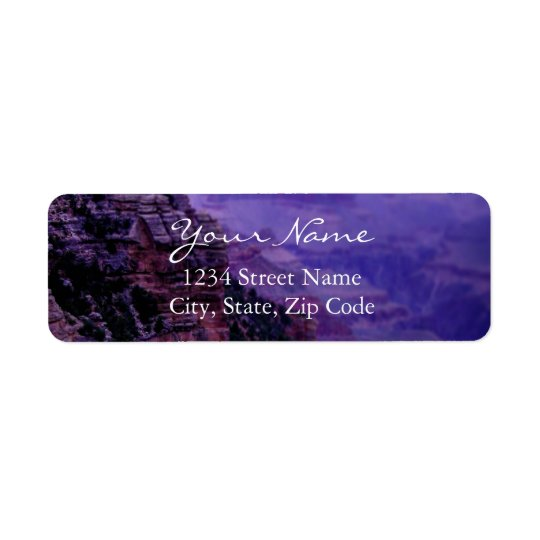 Etiquetas de endereço roxas do Grand Canyon