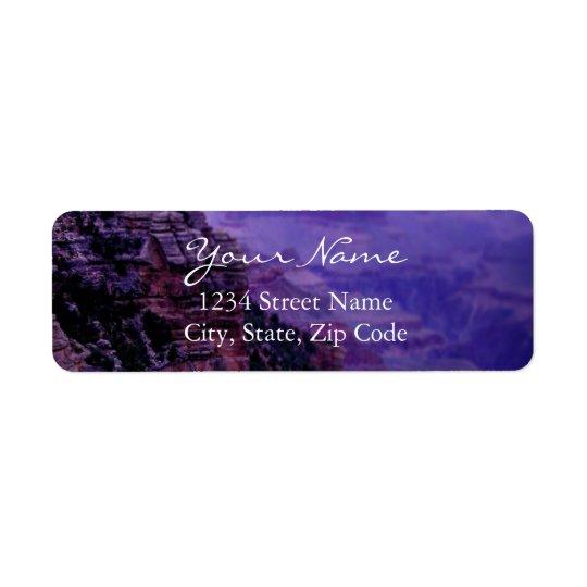 Etiquetas de endereço roxas do Grand Canyon Etiqueta Endereço De Retorno