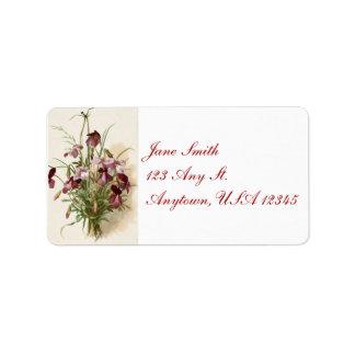 Etiquetas de endereço roxas dos Wildflowers do
