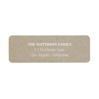 Etiquetas de endereço rústicas de Kraft