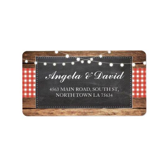 Etiquetas de endereço rústicas do casamento do giz etiqueta de endereço