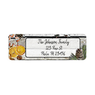 Etiquetas de endereço rústicas personalizadas do