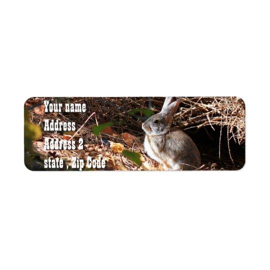 Etiquetas de endereço selvagens bonitos do coelho etiqueta endereço de retorno