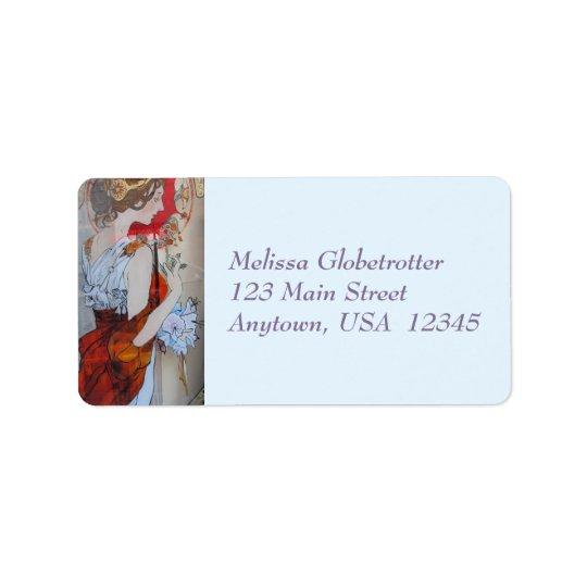 Etiquetas de endereço--Senhora Vermelho do
