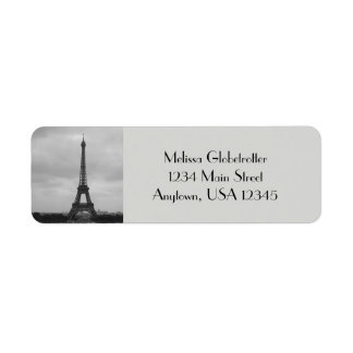 Etiquetas de endereço--Torre de Eifel