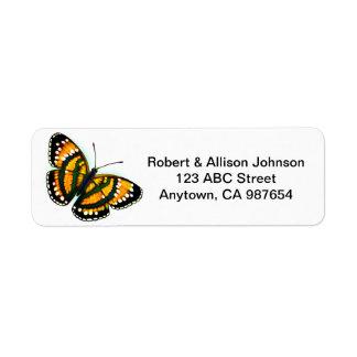 Etiquetas de endereço tropicais amarelas da borbol etiqueta endereço de retorno