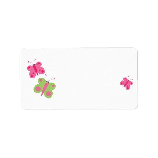 Etiquetas de endereço vazio bonitos das borboletas etiqueta de endereço