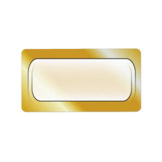 Etiquetas de endereço vazio do fundo do ouro etiqueta de endereço