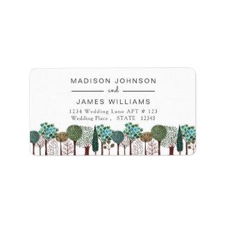 Etiquetas de endereço Wedding da floresta | | da
