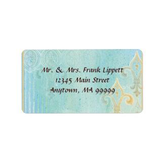 Etiquetas de envio pelo correio - azul de Fleur di Etiqueta De Endereço