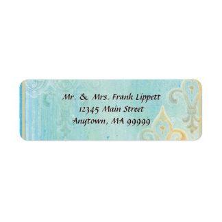 Etiquetas de envio pelo correio - azul de Fleur di Etiqueta Endereço De Retorno