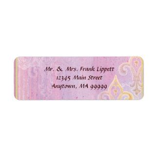Etiquetas de envio pelo correio - Lilac de Fleur Etiqueta Endereço De Retorno