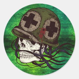 Etiquetas de esqueleto do soldado do exército