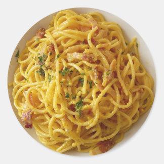 Etiquetas de Foodie da massa do Fettuccine dos