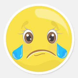 Etiquetas de grito tristes de Emoji