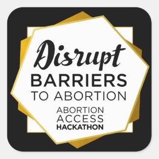 Etiquetas de Hackathon do acesso do aborto