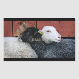 Etiquetas de HAMbyWG- - carneiros brancos das
