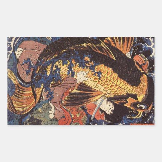 Etiquetas de Koi do japonês do vintage
