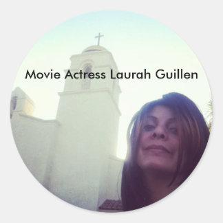 Etiquetas de Laurah Guillen da atriz do filme Adesivos Redondos