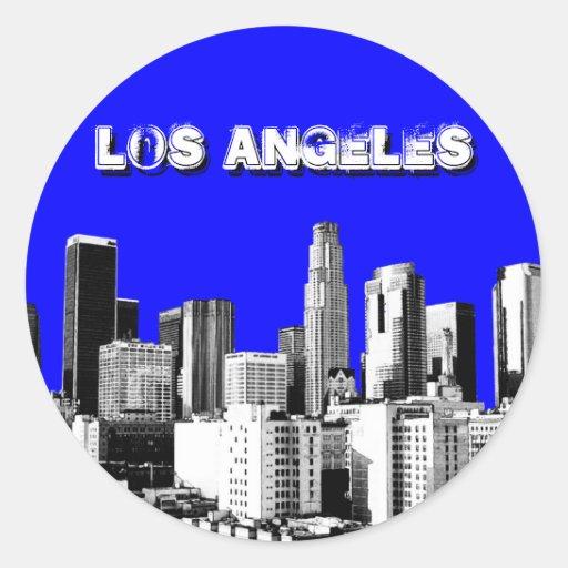 Etiquetas de Los Angeles Adesivo Redondo
