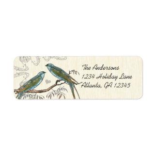 Etiquetas de madeira musicais dos pássaros do