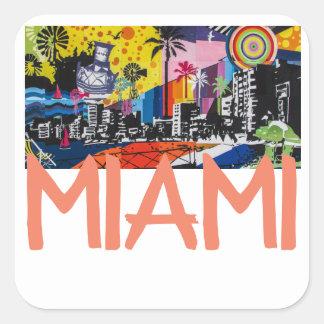 Etiquetas de Miami Florida