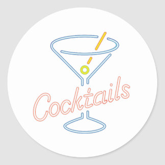 Etiquetas de néon do sinal dos cocktail