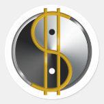 Etiquetas de Objectivist Yin/Yang Adesivo Em Formato Redondo