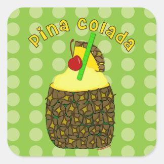 Etiquetas de Pina Colada da arte da bebida