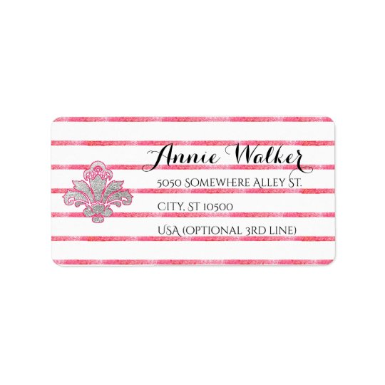 Etiquetas de prata do enviamento do endereço do etiqueta de endereço
