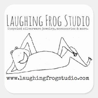 Etiquetas de riso do logotipo do estúdio do sapo