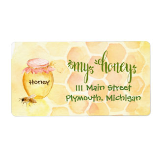 Etiquetas de transporte do mel do Apiary da abelha