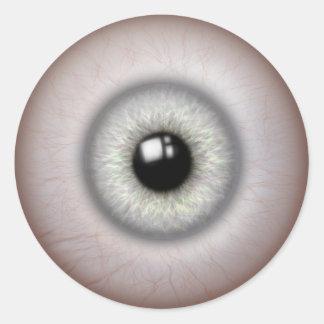 etiquetas de vista realísticas do globo ocular