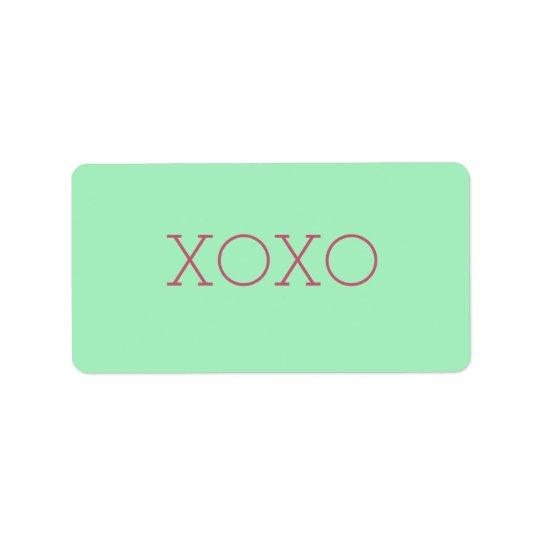 Etiquetas de XOXO