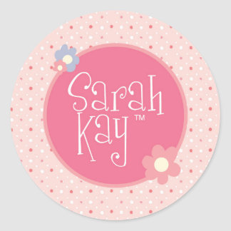 Etiquetas decorativas do logotipo de Sarah Kay Adesivo