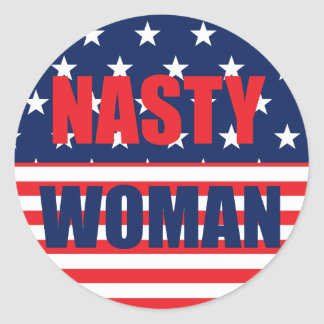 Etiquetas desagradáveis de América da mulher