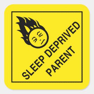 Etiquetas destituídas sono do pai adesivo quadrado