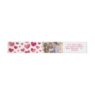 Etiquetas Dia dos namorados dos corações da aguarela