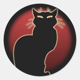 Etiquetas do amante do gato do gato do Dia das Bru Adesivos Em Formato Redondos
