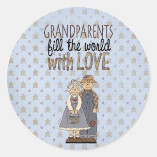 Etiquetas do amor das avós da coleção do país adesivo
