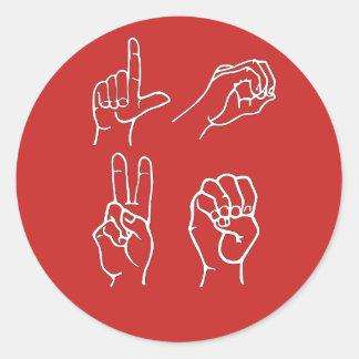 Etiquetas do amor do ASL