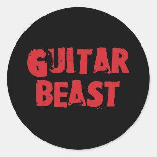 Etiquetas do animal da guitarra