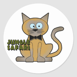Etiquetas do animal do safari de selva adesivo