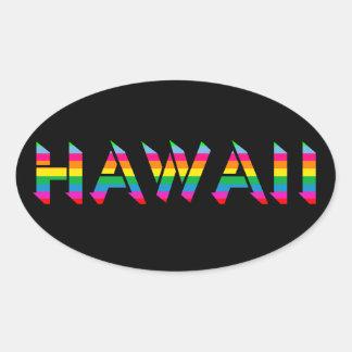 Etiquetas do arco-íris de Havaí