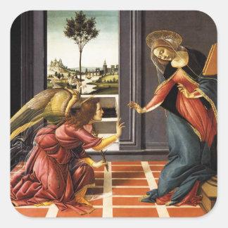 Etiquetas do aviso de Botticelli Adesivo Quadrado