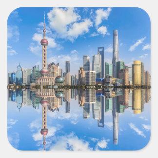 Etiquetas do beira-rio de Shanghai