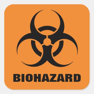 Etiquetas do Biohazard Adesivo Quadrado