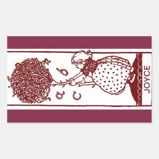 Etiquetas do Bookplate da árvore de ABC da criança